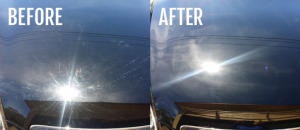 before & after a detailing car wash